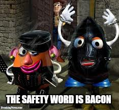 THE SAFETY WORD IS BACON | made w/ Imgflip meme maker