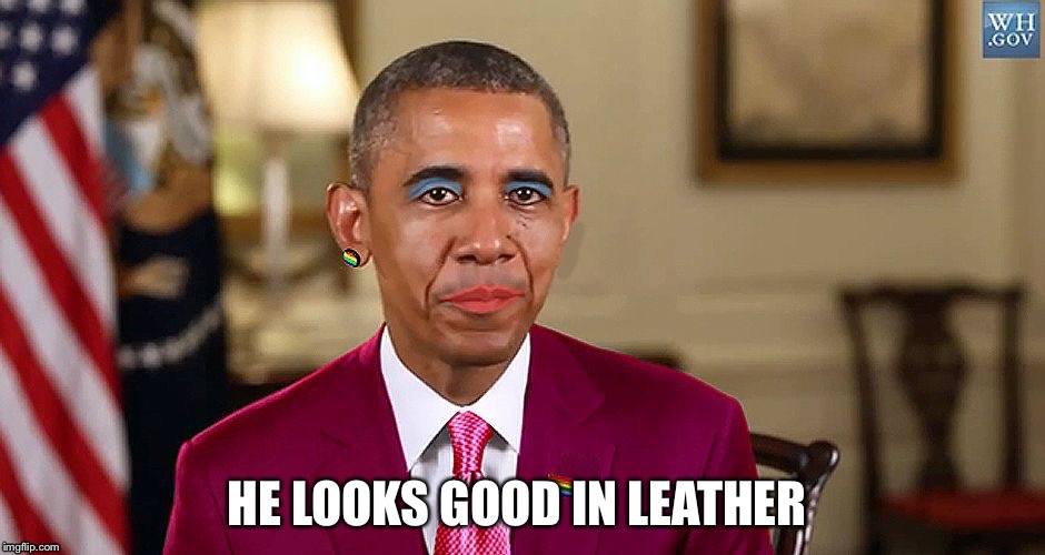 HE LOOKS GOOD IN LEATHER | made w/ Imgflip meme maker