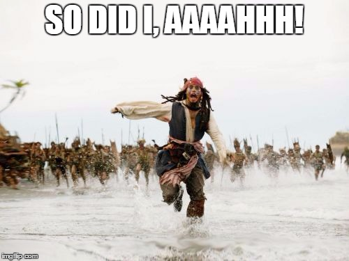 run jack run | SO DID I, AAAAHHH! | image tagged in run jack run | made w/ Imgflip meme maker