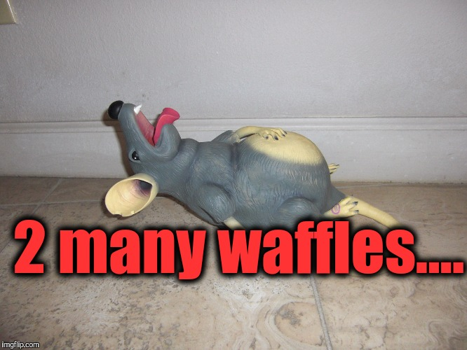 2 many waffles.... | made w/ Imgflip meme maker