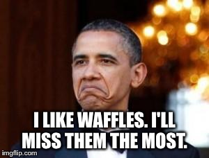 I LIKE WAFFLES. I'LL MISS THEM THE MOST. | made w/ Imgflip meme maker