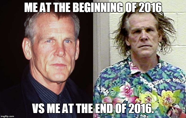 Me Vs The End of 2016 | ME AT THE BEGINNING OF 2016 VS ME AT THE END OF 2016. | image tagged in memes,me vs,2016 | made w/ Imgflip meme maker