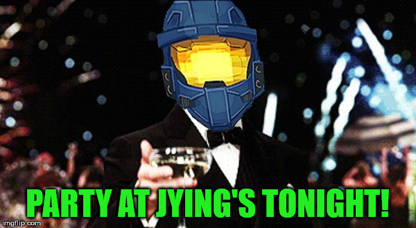 Cheers Ghost | PARTY AT JYING'S TONIGHT! | image tagged in cheers ghost | made w/ Imgflip meme maker