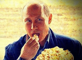 Putin Eating Popcorn Meme Template