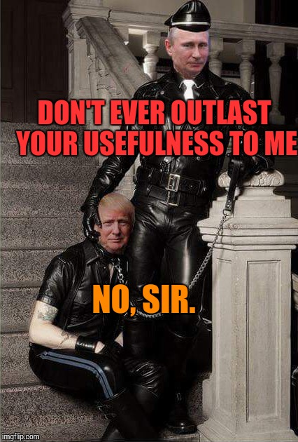 DON'T EVER OUTLAST YOUR USEFULNESS TO ME NO, SIR. | made w/ Imgflip meme maker