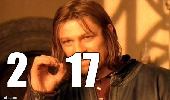 One does not simply repurpose a meme | 2     17 | image tagged in memes,one does not simply,2017 | made w/ Imgflip meme maker