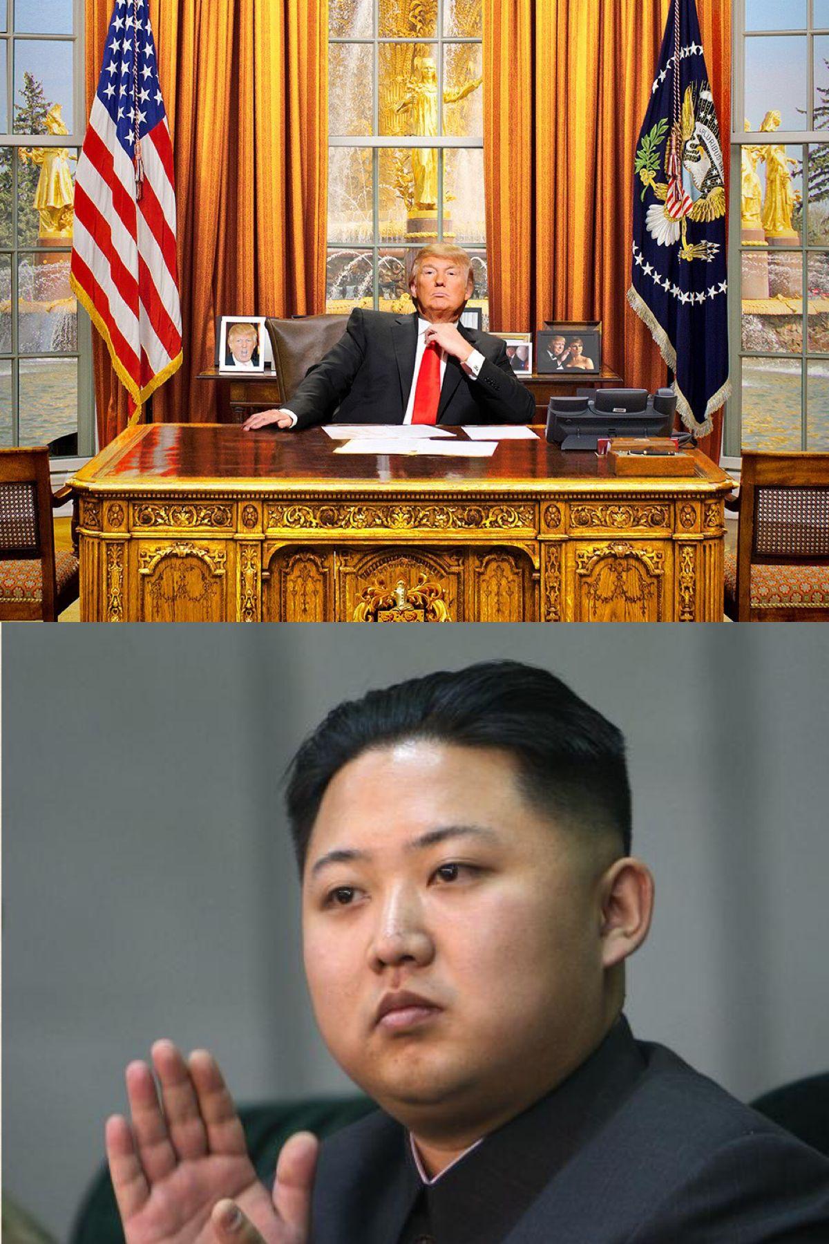 Trump Gop Kim Jong Un Blank Template Imgflip