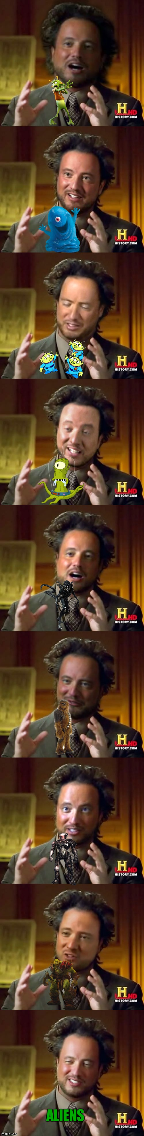 The many faces of Giorgio... | ALIENS | image tagged in giorgio tsoukalos,ancient aliens,memestrocity,jying | made w/ Imgflip meme maker