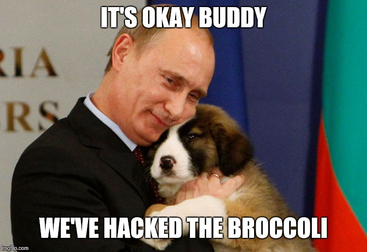IT'S OKAY BUDDY WE'VE HACKED THE BROCCOLI | made w/ Imgflip meme maker