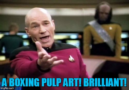 Picard Wtf Meme | A BOXING PULP ART! BRILLIANT! | image tagged in memes,picard wtf | made w/ Imgflip meme maker