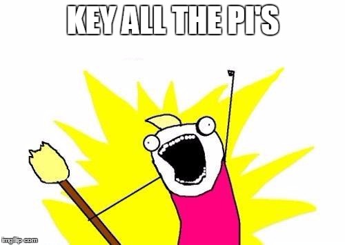 X All The Y Meme | KEY ALL THE PI'S | image tagged in memes,x all the y | made w/ Imgflip meme maker