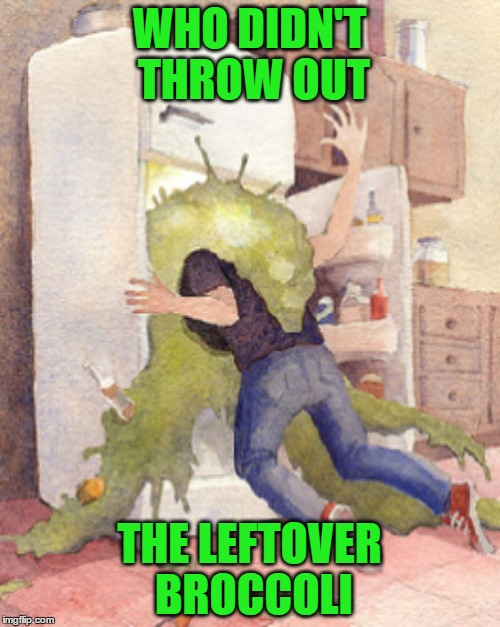 WHO DIDN'T THROW OUT THE LEFTOVER BROCCOLI | made w/ Imgflip meme maker