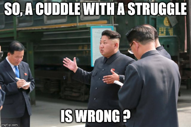 SO, A CUDDLE WITH A STRUGGLE IS WRONG ? | made w/ Imgflip meme maker