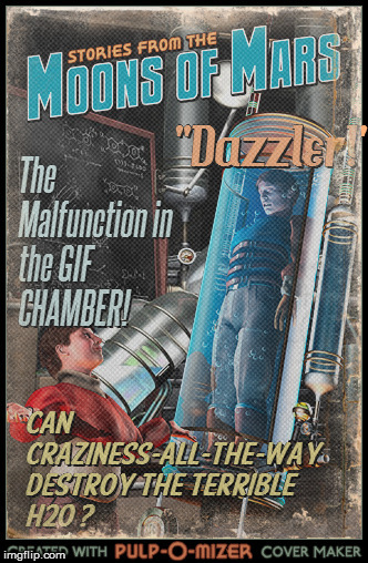 Tune in for more Todays-Reality In science fiction news! | image tagged in pulp art,imgflip,funny,use the username weekend,pulp art week | made w/ Imgflip meme maker