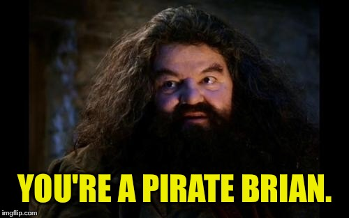 YOU'RE A PIRATE BRIAN. | made w/ Imgflip meme maker