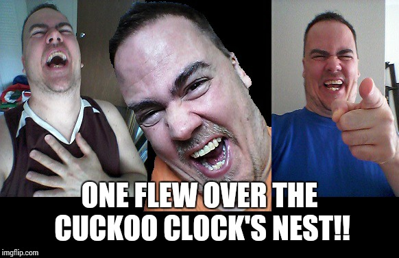 LMAO! | ONE FLEW OVER THE CUCKOO CLOCK'S NEST!! | image tagged in lmao | made w/ Imgflip meme maker