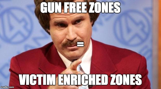 GUN FREE ZONES VICTIM ENRICHED ZONES = | image tagged in ron burgundy mba | made w/ Imgflip meme maker
