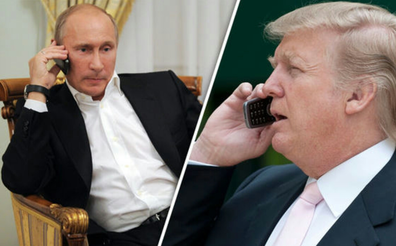 High Quality Putin/Trump phone call Blank Meme Template