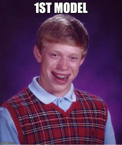 Bad Luck Brian Meme | 1ST MODEL | image tagged in memes,bad luck brian | made w/ Imgflip meme maker
