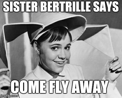 SISTER BERTRILLE SAYS COME FLY AWAY | made w/ Imgflip meme maker