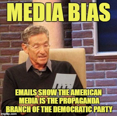 Maury Lie Detector Meme | MEDIA BIAS EMAILS SHOW THE AMERICAN MEDIA IS THE PROPAGANDA BRANCH OF THE DEMOCRATIC PARTY | image tagged in memes,maury lie detector | made w/ Imgflip meme maker