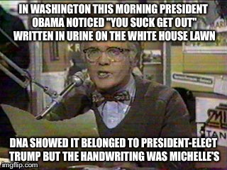 image tagged in president,obama,donald trump,wkrp,mainstream media | made w/ Imgflip meme maker