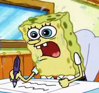 High Quality Spongebob Writing Blank Meme Template