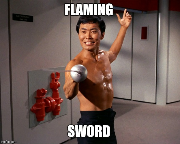 FLAMING SWORD | made w/ Imgflip meme maker