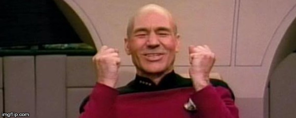Picard Happy Face | A | image tagged in picard happy face | made w/ Imgflip meme maker