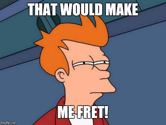 Futurama Fry Meme | THAT WOULD MAKE ME FRET! | image tagged in memes,futurama fry | made w/ Imgflip meme maker