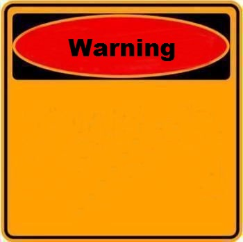High Quality Warning Sign Blank Meme Template