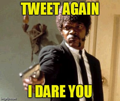 Say That Again I Dare You Meme | TWEET AGAIN I DARE YOU | image tagged in memes,say that again i dare you | made w/ Imgflip meme maker