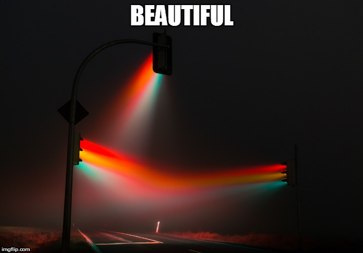 Time lapse of traffic lights in a foggy night | BEAUTIFUL | image tagged in memes,traffic light,light | made w/ Imgflip meme maker
