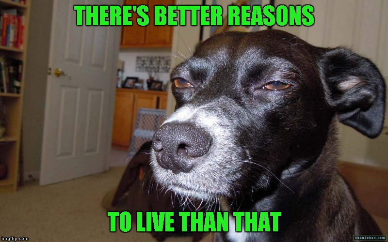 THERE'S BETTER REASONS TO LIVE THAN THAT | made w/ Imgflip meme maker
