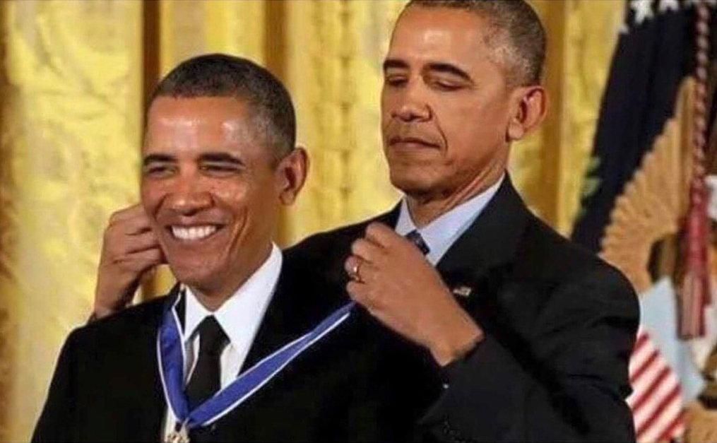 High Quality obama medal Blank Meme Template