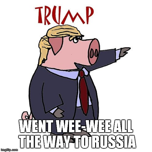 Trump Wee Wee | WENT WEE-WEE ALL THE WAY TO RUSSIA | image tagged in trump,golden showers,watergate | made w/ Imgflip meme maker