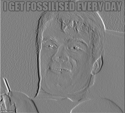 I GET FOSSILISED EVERY DAY | made w/ Imgflip meme maker