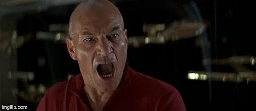 Picard Really Angry | U | image tagged in picard really angry | made w/ Imgflip meme maker