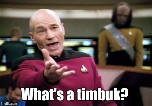 Picard Wtf Meme | What's a timbuk? | image tagged in memes,picard wtf | made w/ Imgflip meme maker