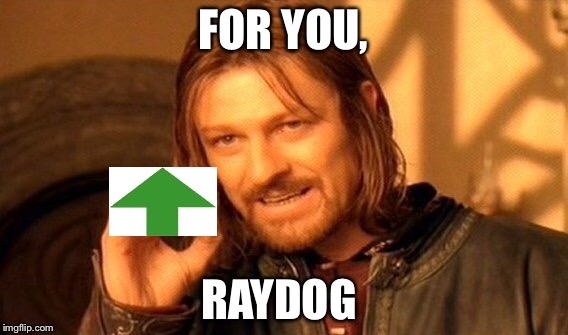 One Does Not Simply Meme | FOR YOU, RAYDOG | image tagged in memes,one does not simply | made w/ Imgflip meme maker
