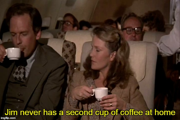 Jim never has a second cup of coffee at home | made w/ Imgflip meme maker