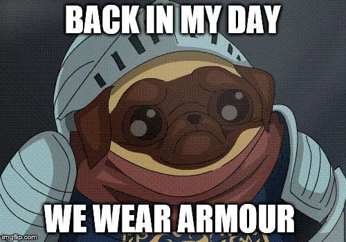 BACK IN MY DAY WE WEAR ARMOUR | made w/ Imgflip meme maker