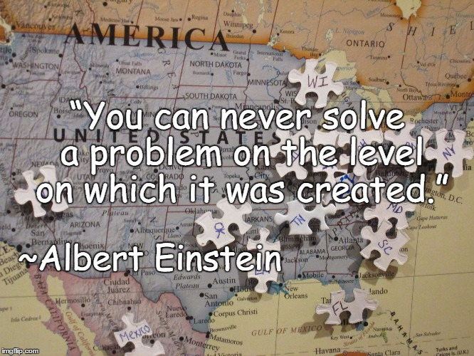 "Map Puzzle | ""You can never solve a problem on the level on which it was created."" ~Albert Einstein 