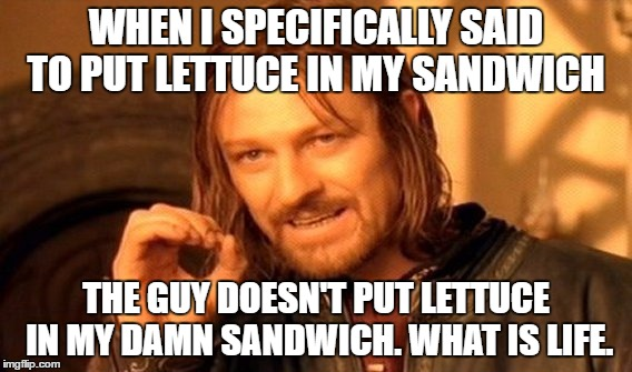 This is not my sandwich
