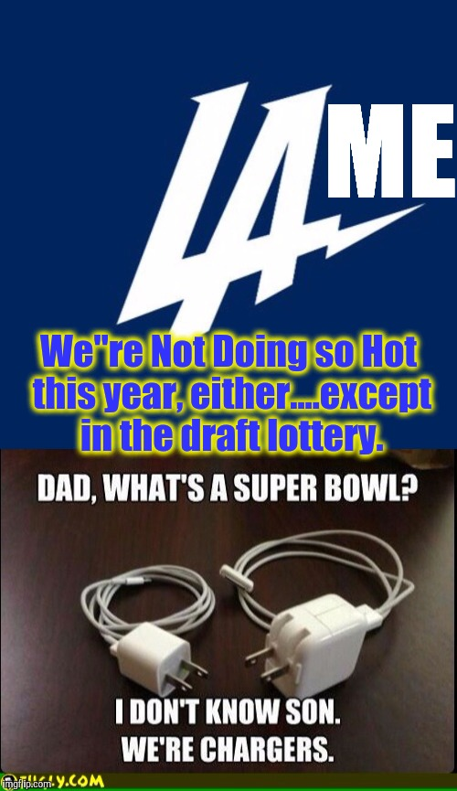"Between the String of losing Efforts, and Alienating roughly half of the fanbase....the Failing Logo is just another PR Disaster | ME We""re Not Doing so Hot this year, either....except in the draft lottery. 