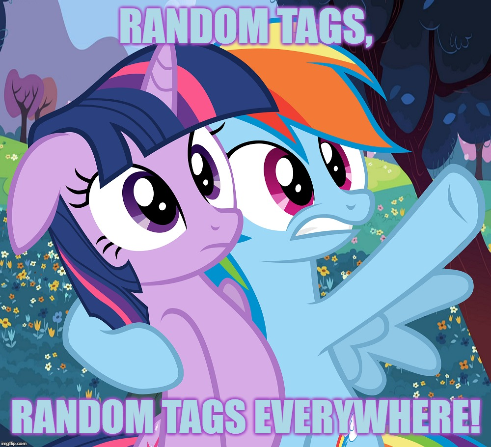 RANDOM TAGS, RANDOM TAGS EVERYWHERE! | made w/ Imgflip meme maker