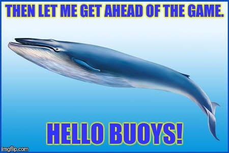 THEN LET ME GET AHEAD OF THE GAME. HELLO BUOYS! | made w/ Imgflip meme maker