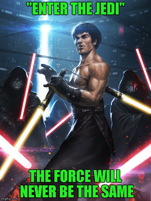 "Bruce Lee By Ameeeeba for Deviantart week...A Robroman event | ""ENTER THE JEDI"" THE FORCE WILL NEVER BE THE SAME 