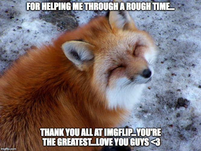 card of thanks from a fairly new member | FOR HELPING ME THROUGH A ROUGH TIME... THANK YOU ALL AT IMGFLIP...YOU'RE THE GREATEST...LOVE YOU GUYS <3 | image tagged in - | made w/ Imgflip meme maker