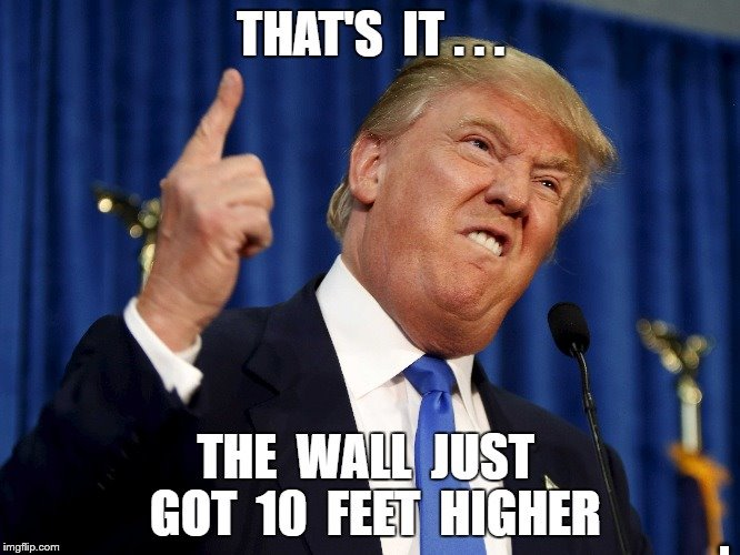 The Wall | . | image tagged in trumpwall | made w/ Imgflip meme maker